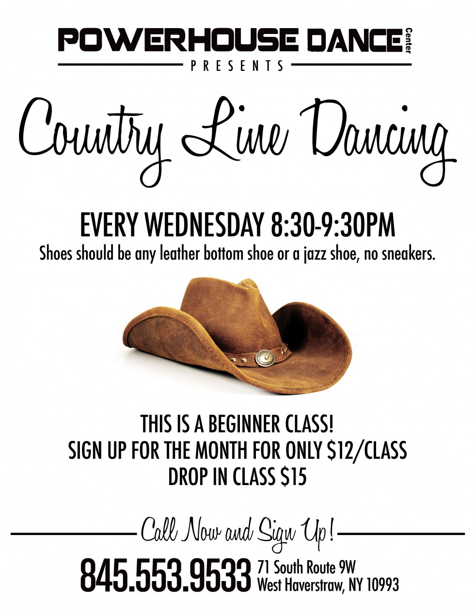 Country Line Dancing Flyer 2014